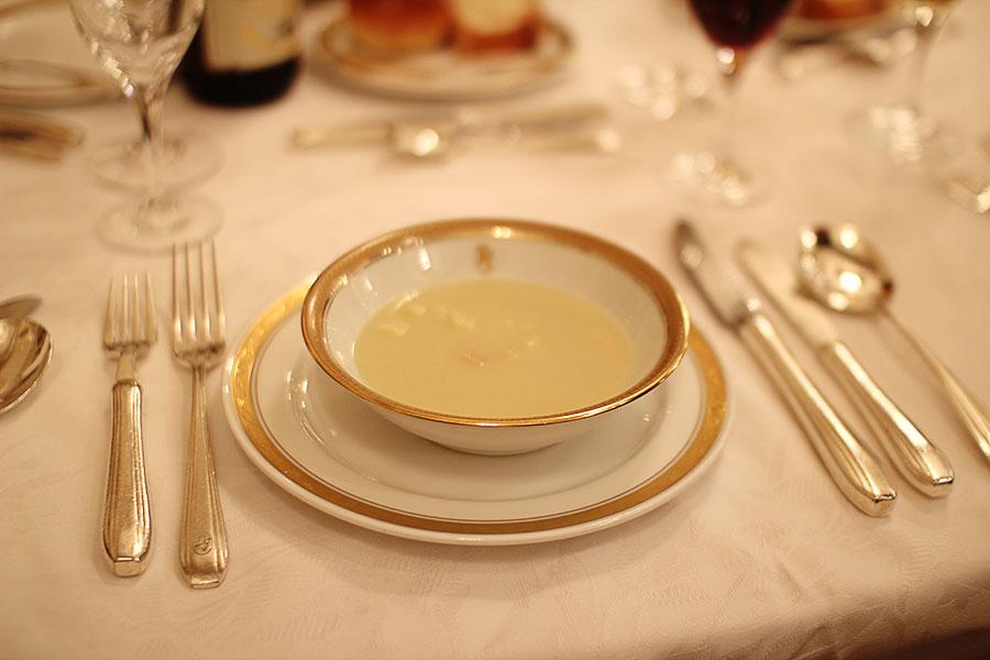甘みの有る冬キャベツのクリームスープ